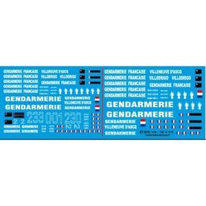 Gendarmerie Villeneuve d'Ascq décalcomanies-HO 1/87-TCHOUTCHOU 87013
