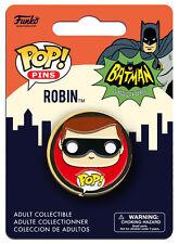 OFFICIAL DC COMICS BATMAN (CLASSIC TV SERIES) ROBIN POP! HEROES PIN BADGE