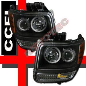 07-11 Dodge Nitro Black G3 Halo Projector Headlights G2 W/ LED Parking