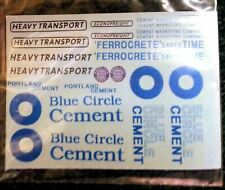 Blue Circle Cement Waterslide Transfers T8 Colour OO Scale Langley Models Decals