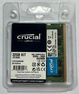 Crucial 32GB (2x16GB) PC4-21300 DDR4 2666 SODIMM Memory CT2K16G4S266M 4