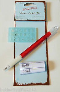 Nortexx 24 Iron On Name Labels Tags With Pen And Letter Stencil Back To School