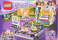 Lego Friends 41133 Vergnügungspark Autoscooter Schaukel Olivia Ben Zuckerwatte