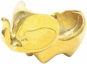 Jonathan Adler - Polished Brass Trinket Bowl - Elephant