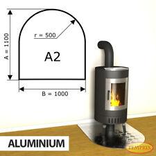 Kamin Bodenplatte Funkenschutz Kaminplatte Aluminium Ofen Platte Ofenblech - A2