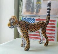 Needle felted wool Leopard mini sculpture one of a kind
