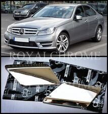 US STOCK x2 CHROME Headlight Washer Covers for Mercedes C Class W204 11-14 LCI