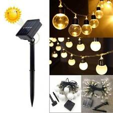 40 LED Solar Powered Fairy String Lights Outdoor Garden Party Wedding Xmas AU
