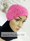 New Full Hot Drill Muslim Flower Inner Cap Islamic Scarf Hat Hijab Underscarf