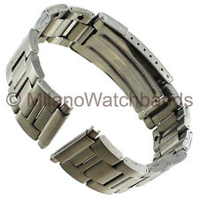 18-22mm Hirsch Bijou Mens Silver Tone Stainless Steel Clasp Watch Band
