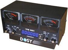Dosy TFB-3001 1,000 Watt SWR/Mod/Watt Meter w/ Black Meters & Frequency Counter