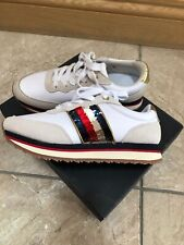 Tommy Hilfiger Sequin Retro Trainers In White Size 4/37
