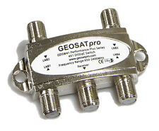 Lot of 2 GEOSATpro 4x1 DiSEqC 2.0 FTA Satellite Switch Model GDSW41, 4x1 Switch