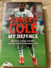 """Ashley Cole SIGNED """"My Defence"""" Autobiography Chelsea Arsenal England Autograph"""