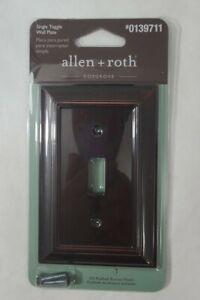 Allen + Roth Cosgrove Toggle Switch Wall Plate - Dark Oil Rubbed Bronze