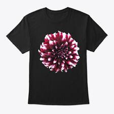 Purple White Dahlia Flower Gardener Hanes Tagless Tee T-Shirt