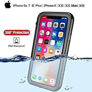 COVER per Iphone X XS Max XR 6 7 8 IMPERMEABILE SUBACQUEA Waterproof ACQUA NEVE