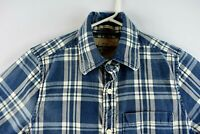 Abercrombie & Fitch Mens Casual Shirt Size Small Long Sleeve Blue Plaid