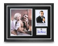 Sean Connery Signed 16x12 Framed Photo Display James Bond Autograph Memorabilia