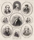 George Washington Portraits Colonel 1st Virginia Regiment Masonic Portrait 1866