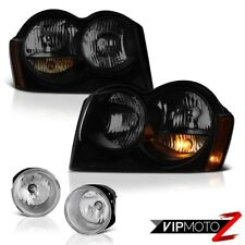 05-07 Jeep Grand Cherokee Offroad Smoke Tinted Headlamps Foglamps Factory Style