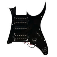 Loaded Prewired Pickguard for Ibanez GRG250 Electric Guitar Parts HSH Black