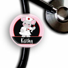 MOUSE NURSE PERSONALIZED STETHOSCOPE ID TAG