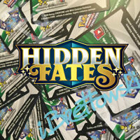 50 x Pokémon Sun & Moon Hidden Fates TCG Online Booster Codes PTCGO Email 12hr