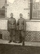 WWII German Large RP- Two Soldiers- Uniform- Hat- Boots- Leggings- Moustache