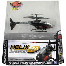 air hogs helix remote control 360 helicopter blue new in box