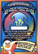 (s4-pet) Webkinz SERIES 4 RANDOM PET ADOPTION CARD CODE - UNUSED - Messaged Fast