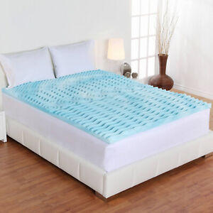 Memory Foam Mattress Topper 3 Inch Premium 5-Zone Orthopedic Pad Bed Protector