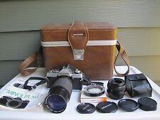 1980 Vintage Minolta XG1 Film Camera & Extra Lens w/ 1200 Deluxe SLR Case