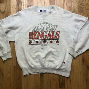 Men's Vintage 90s Russell Cincinnati Bengals Heather Gray Crewneck Sweatshirt XL
