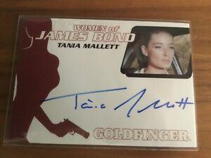 James Bond Archives  - TANIA MALLETT 2014 Autograph Card TILLY MASTERSON WA45