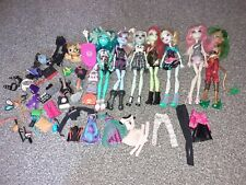 Monster High Dolls Bundle Clothes And Accessories  7 Dolls