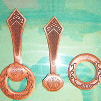 Brown Wenge Wood Buddhist Monk Accessories Hook and Ring Set for Robes