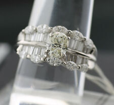 Ovaler Brillant Ring 2.69 ct TW-CA(L)/VS massiv 900er Platin 10gr. SW 9415.-EURO