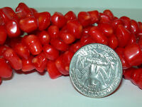 16 Inch Strand of Cherry Limb Coral Pieces Drilled Organic Coral beads