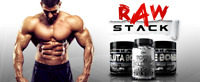 Creatine, Glutamine, L Carnitine, Raw Stack, Muscle Mass, Size, Recovery.