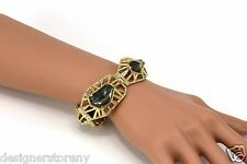 Alexis Bittar Delano Gold Deco Link Bracelet
