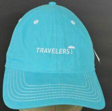Blue Travelers Umbrella Logo Insurance Embroidered Baseball hat cap Adjustable