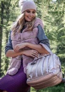 Alex Max 1402 Modern Fine Handbag - Dusty Pink - Florence, Italian