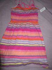 nwt The Children's Place pink orange stripe hi lo sun dress girl 14 free ship Us