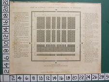 1806 fechado Antiguo impresión ~ Camp ~ Plan De Romano consular según Polybius