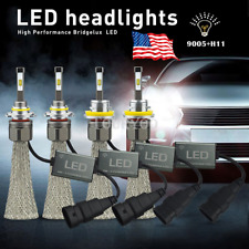 Cree Fanless H11 H8 + HB3 9005 21600LM Car LED Headlight High Low Beam Kit White