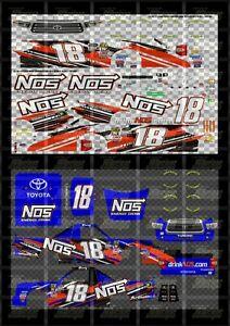 NASCAR 1/64 DECALS KB207 - KYLE BUSCH 2018 CWTS #18 NOS ENERGY (FANTASY)
