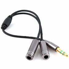 Audio Splitter Y Cable Jack Male to 2 Female M/F 3.5mm Stereo Earphone Headphone