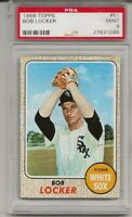 1968 TOPPS #51 BOB LOCKER, PSA 9 MINT, SET BREAK - WHITE SOX , LOW POP, TOUGH