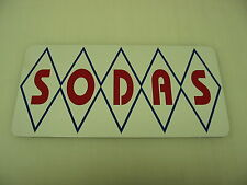Diamond SODAS Sign Metal vintage Pop Soda Fountain Drive In Vending Machine